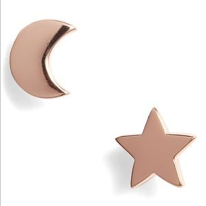 [argento vivo] • [moon & star stud earrings]